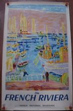 French Riviera by Jean Cavailles - Vintage Travel Poster 1953